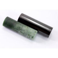 Polished cylinders (Shungite and Nephrite)